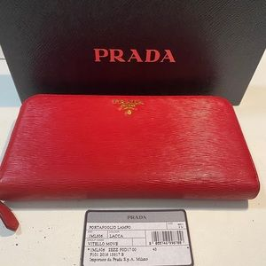 Prada Long zippy wallet